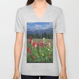 Wildflowers above Breckenridge, Colorado Unisex V-Neck