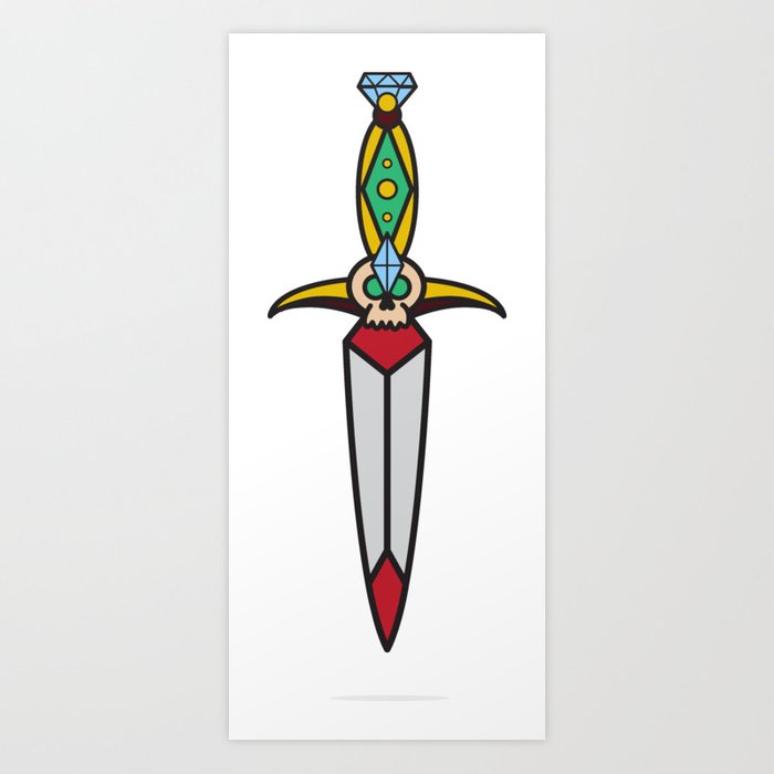 Traditional Dagger Art Print