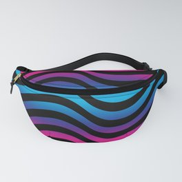 Wiggly Vibrant Multicolour Lines Fanny Pack