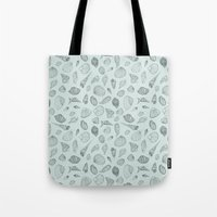 shells Tote Bags featuring Shells by Catalina Montaña
