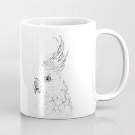 Sulphur Crested Cockatoo - Black and White Portrait Coffee Mug