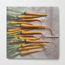 The Avant-Garden Root Veggie || Yellow Carrots  Metal Print