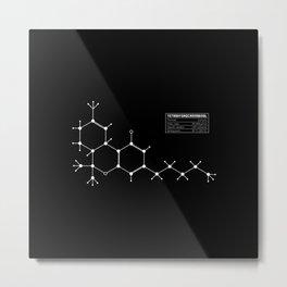 THC(Tetrahydrocannabinol) Metal Print