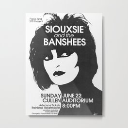 Siouxsie and the Banshees Poster Arthouse Punk Music Concert Tour Poster Metal Print