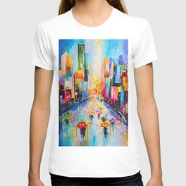RAINING IN THE CITY T-shirt