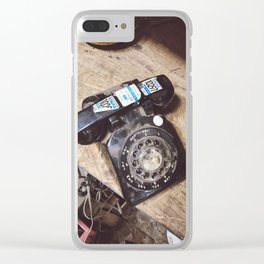 Rotary Phone Clear iPhone Case