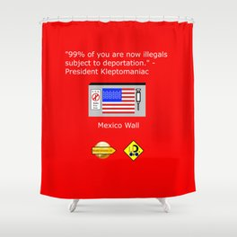 99% of Americans Shower Curtain