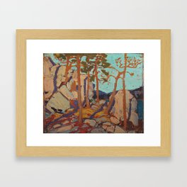 Tom Thomson - Pine Cleft Rocks - Canada, Canadian Oil Painting - Group of Seven Framed Art Print