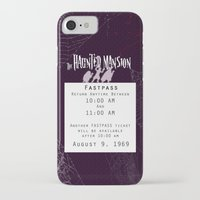 haunted mansion iPhone & iPod Cases featuring Haunted Mansion Fastpass by margybear