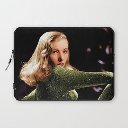 Classic Veronica Lake Portrait in Green - Jeanpaul Ferro Laptop Sleeve