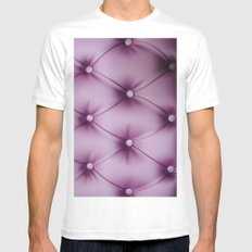 Violet MEDIUM Mens Fitted Tee White