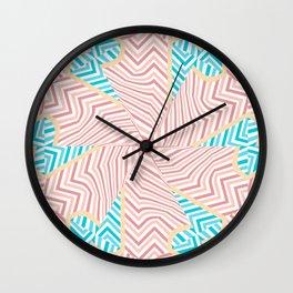 Zig Zag flower Wall Clock
