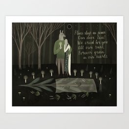 Funeral of the tree Art Print