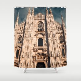 Milan Cathedral, Duomo di Milano, Gothic church, Lombardy, Milan photography Shower Curtain
