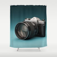 camera Shower Curtains featuring Camera by Ryan Zimmermann