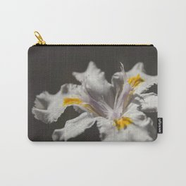 White Iris 4 Carry-All Pouch