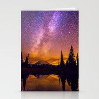 milky way Stationery Cards featuring Milky Way by EclipseLio