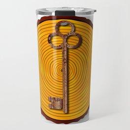 Key on Sawn Timber Travel Mug