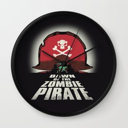 Dawn of the Zombie Pirate Wall Clock