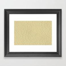 Leather Texture (Cream) Framed Art Print