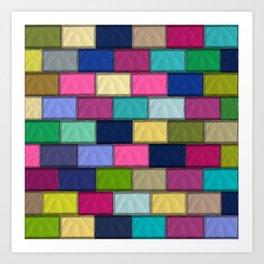 Colourful Mosaics Art Print