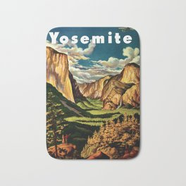 Yosemite National Park - Vintage Travel Bath Mat