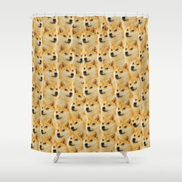 shibe doge fun and funny meme adorable Shower Curtain
