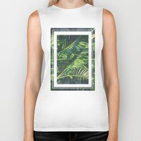 palm trees Biker Tanks featuring Palm Trees by Cody Rayn
