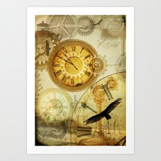 Time Keeps on Slipping.... Art Print