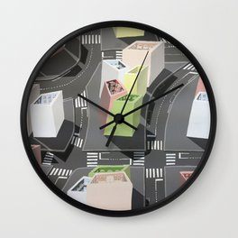 Inside-out - urban living Wall Clock