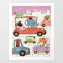 Country Mouse in the City Art Print