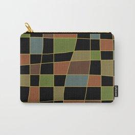 Mid Century Modern Warped Tiles Dark Carry-All Pouch