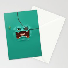 Angry face Stationery Cards