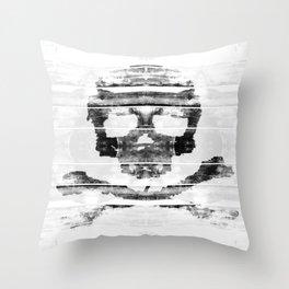 Bitter Bone Skull Throw Pillow