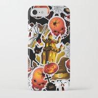 saga iPhone & iPod Cases featuring Halloween Spooky Cartoon Saga by BluedarkArt