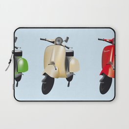 Three Vespa scooters in the colors of the Italian flag Laptop Sleeve