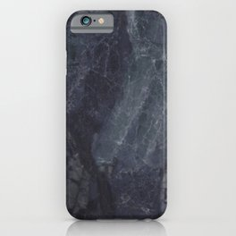 Navy Blue Marble iPhone Case