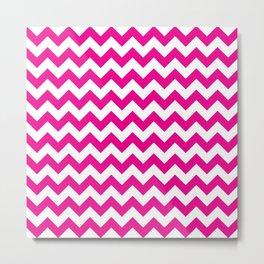 Pink Chevron Metal Print