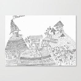 Landscape portrait of the sacred valley - Peru Canvas Print
