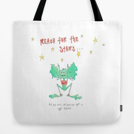 Little Monsters : Reach For The Stars Tote Bag