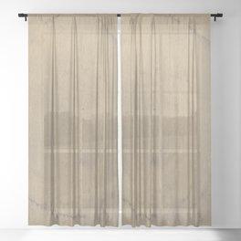 Abstract Ring (Sepia) Sheer Curtain