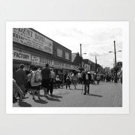 British Shopping in A Seaside Town  Art Print