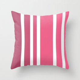 Striped Ombre in Cotton Candy Pink Throw Pillow