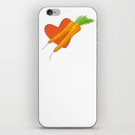 Carrot Heart iPhone Skin