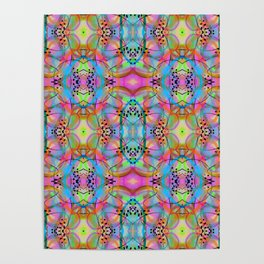 1990s Rave Style Pattern Poster