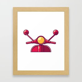 Scooter Vintage Retro Moped And Scooter Gifts Framed Art Print