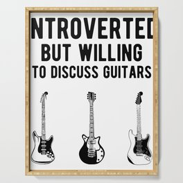 Funny Introverted Bass Guitarist - Guitar Player Serving Tray