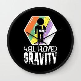 Well Played Gravity - Get Well Broken Arm Fun Gift Wall Clock