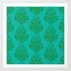 kelly green lace Art Print