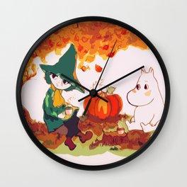 The Autumn Tea Wall Clock
